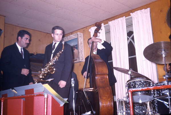 Larry Covelli (ts), Larry Combs (as), Tommy Azarello (b) at the Pythodd Club, Rochester, NY, probably October 1960. The drummer is probably Clarence Becton and the pianist Paul Tardif. John Eckert (t) may also have been present on this gig.