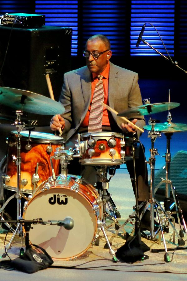 Color image of Roy McCurdy playing the drums