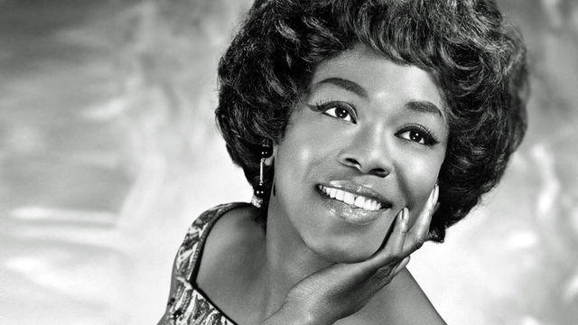 Black and white photograph of Sarah Vaughan