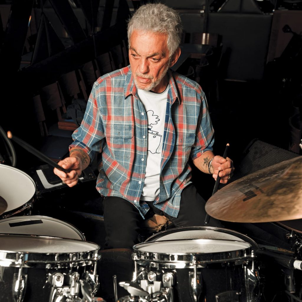 Color image of Steve Gadd playing the drums